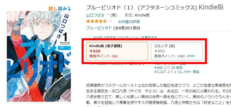 『ブルーピリオド』の価格