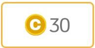 黄色いコインマーク